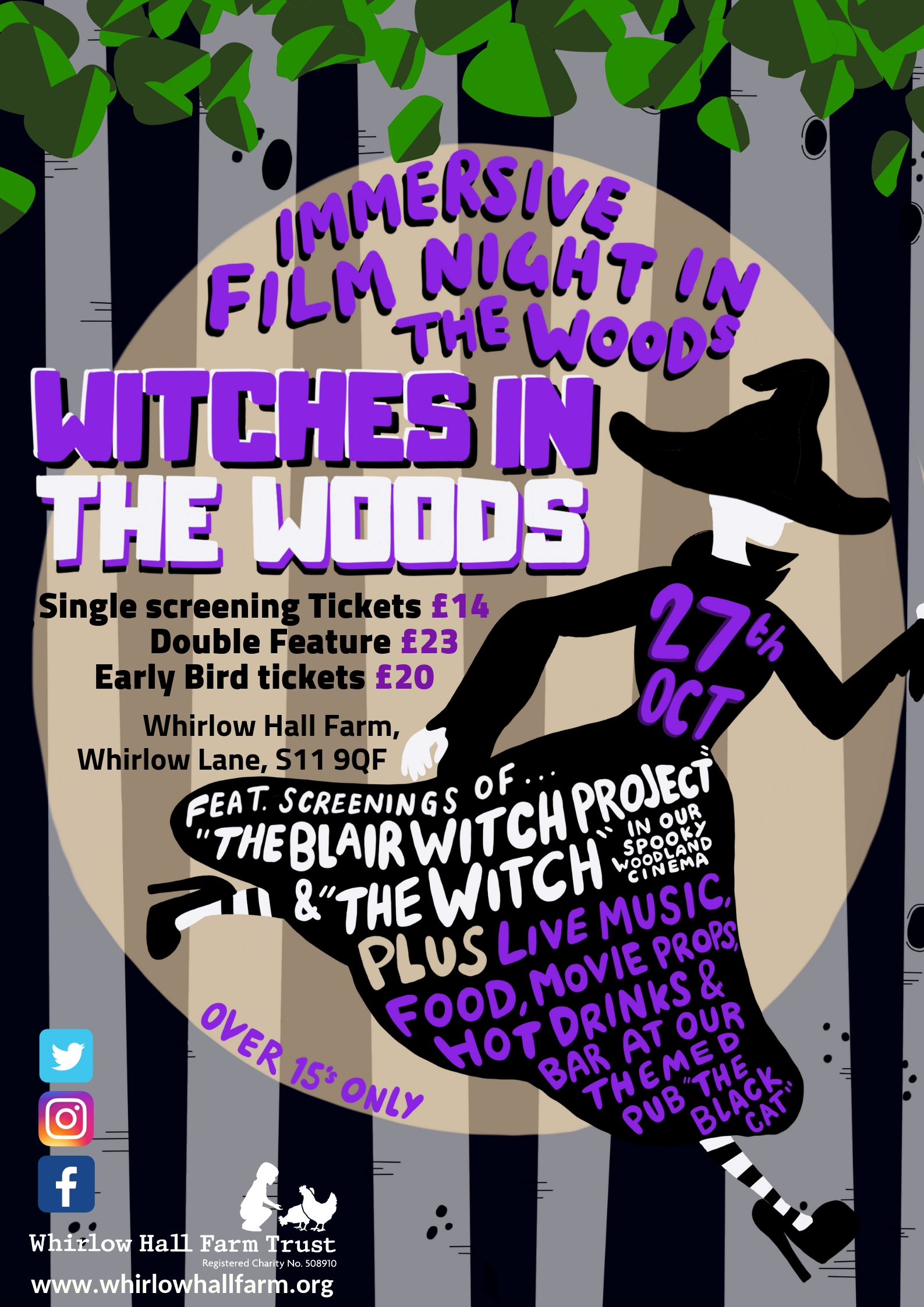 Witches in the Woods: Film Poster Designs for Whirlow Hall Farm Trust
