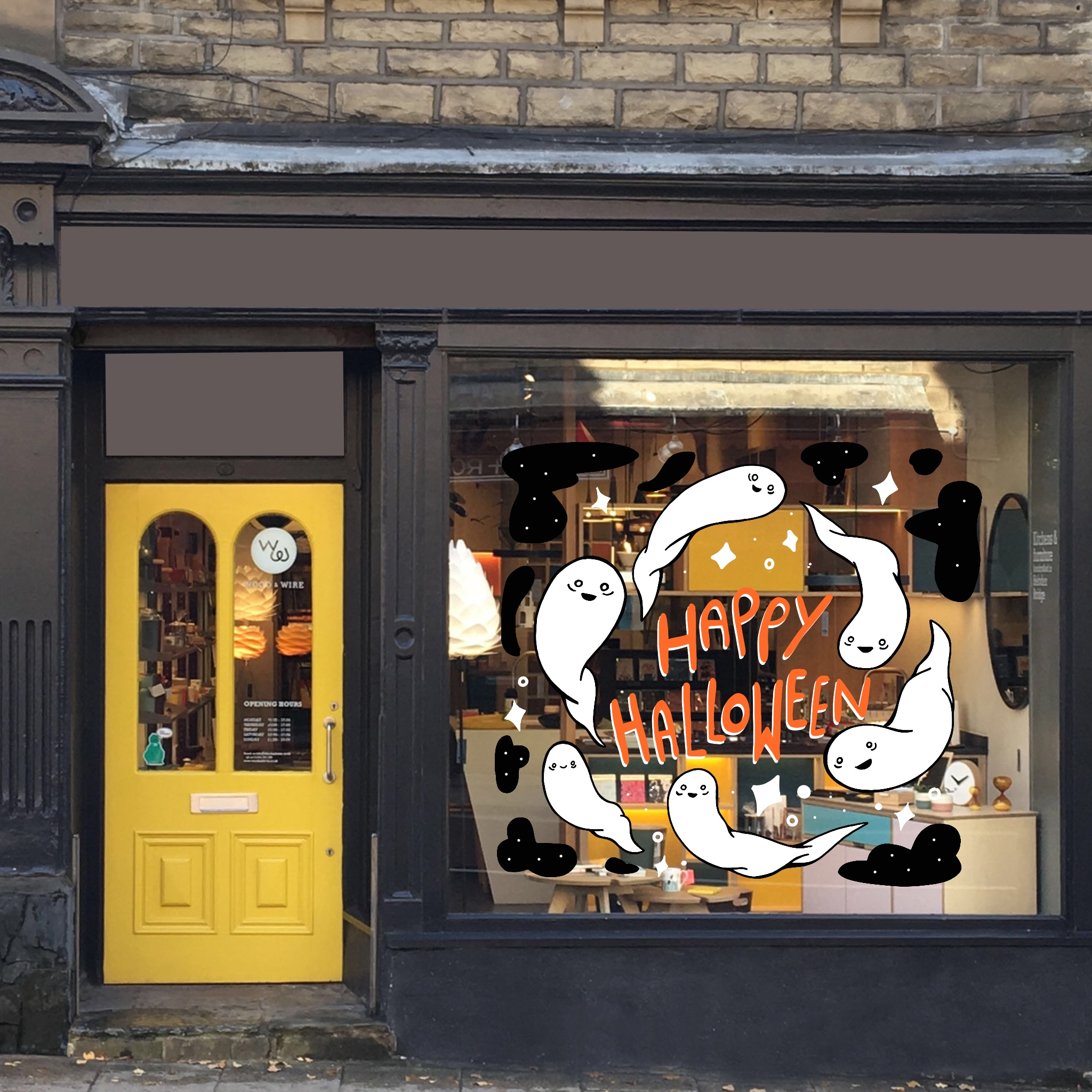 Halloween Window Drawing
