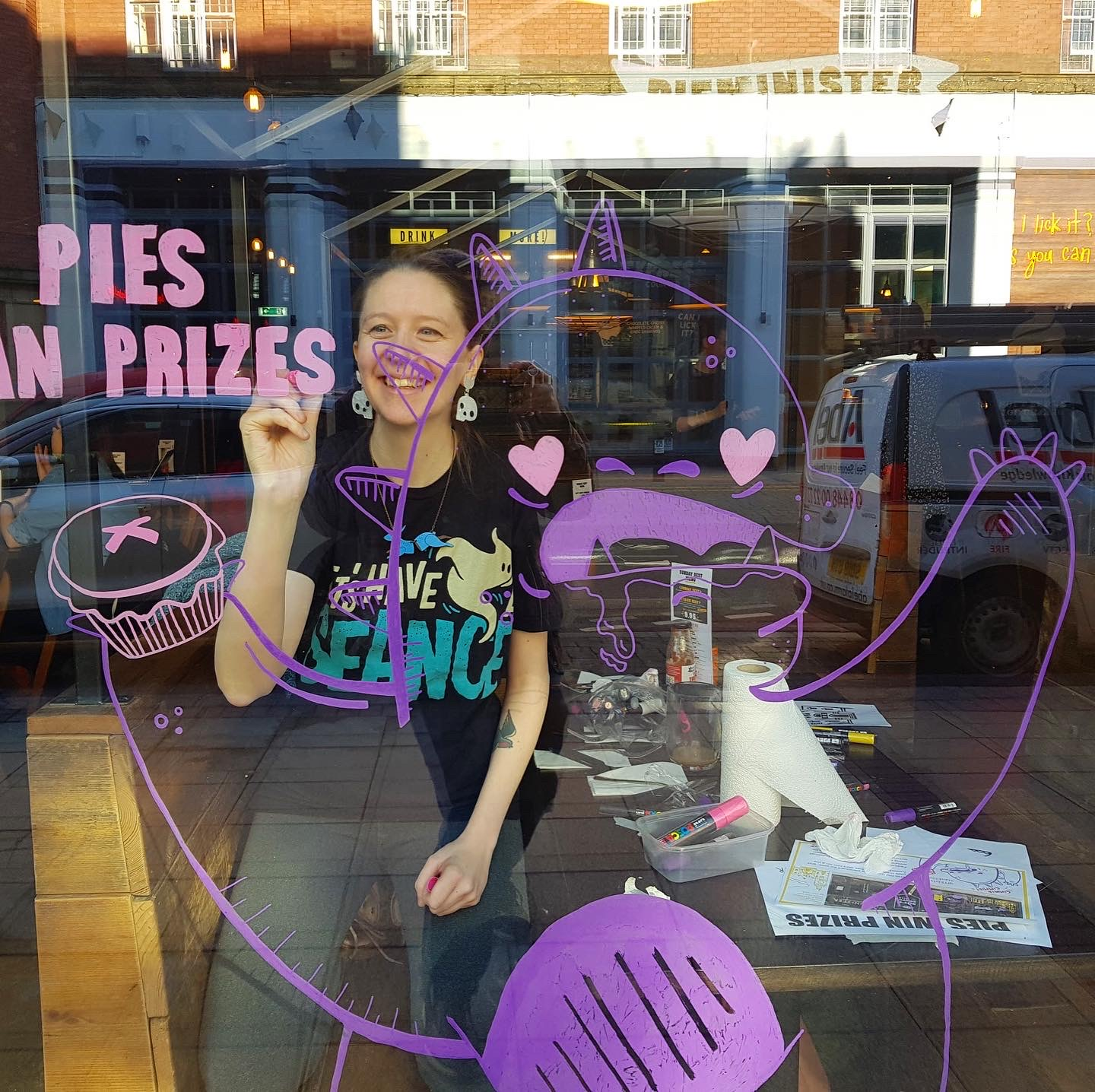 Window Painting at Pieminister, Sheffield