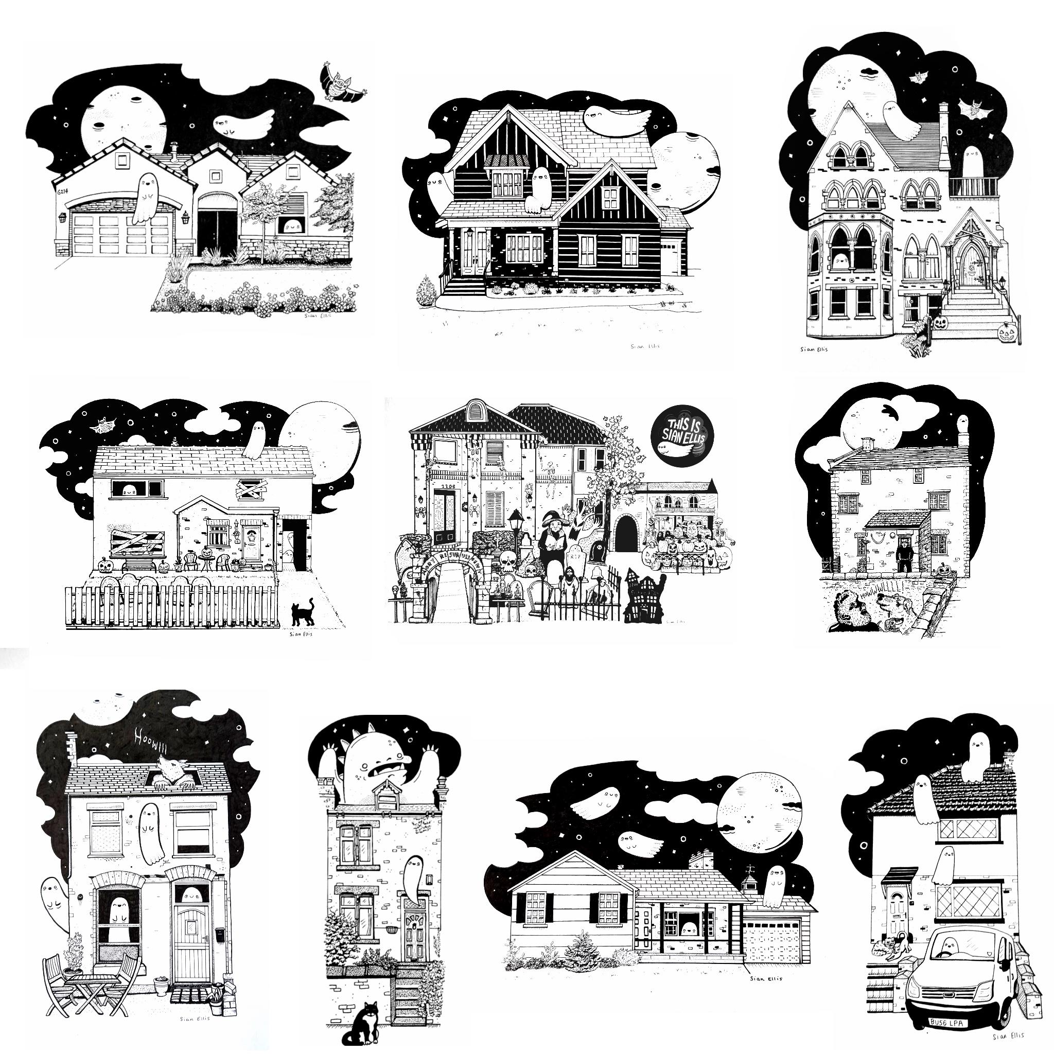 Haunted House Portraits